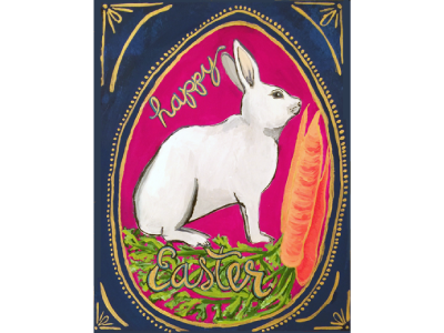 Easter Illustration type design painting stationery illustration wall art greeting easter