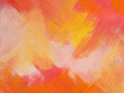 Sunset (detail) orange sunset illustration brushwork painting gouache