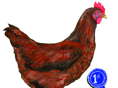 Chicken or the Egg? illustration painting humor science chicken