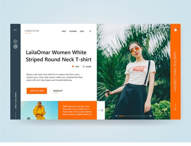 Laila Omar - Online Shopping fashion online store online shopping adobe xd adobe illustrator