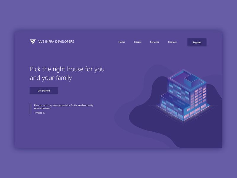 VVS Infra Developers developers builders adobe xd adobe illustrator