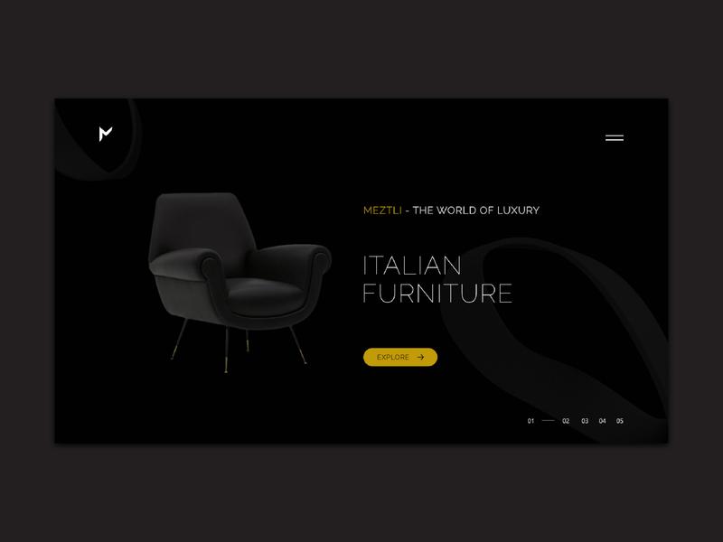 Luxury Furniture design uiux adobeillustator adobedimension adobexd luxury furniture
