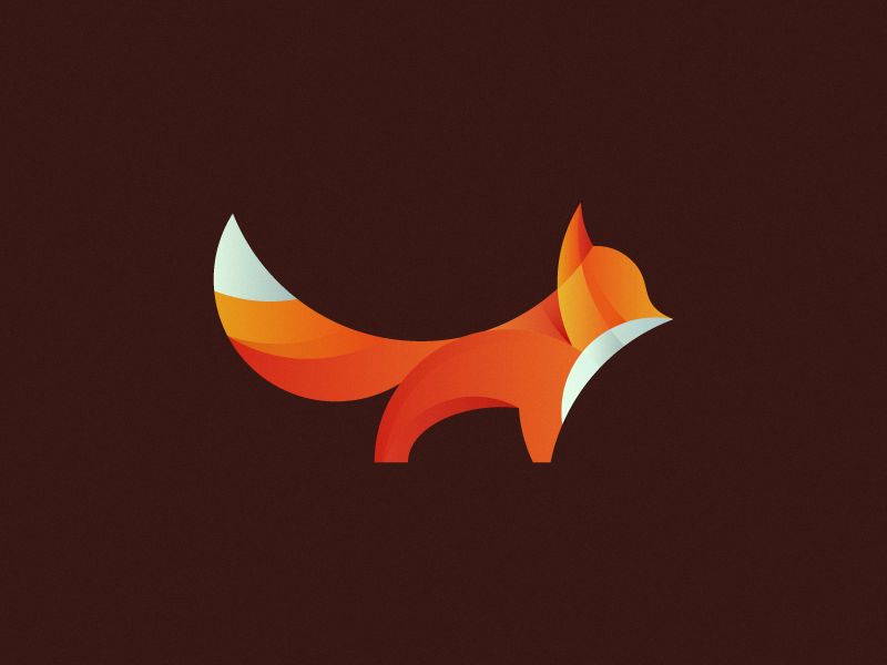 Fox cute branding icon design icon logo design logo mark fox orange animal forest