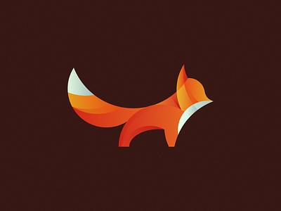 Fox cute branding icon design icon logo design logo mark fox orange animal forest