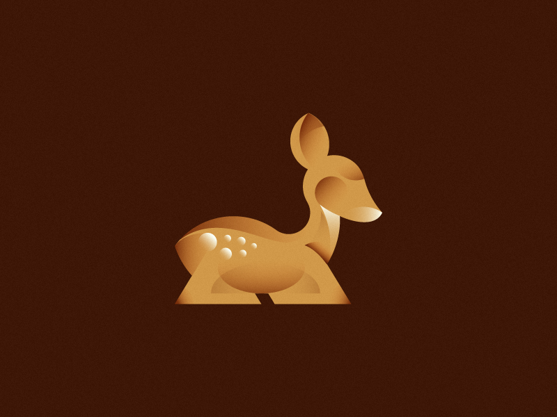 Fawn mark sale logo mark animal fawn deer young gradients forest