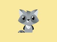 Little racoon racoon illustration branding logo design logo