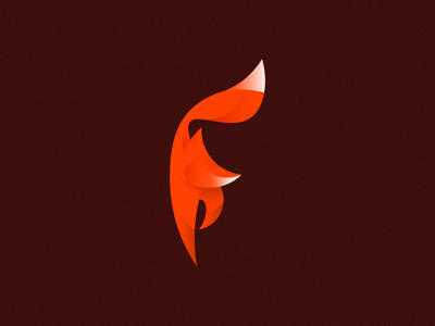 FitFox (F) logo mark fox letter f passion independence fitness sport female red gradients