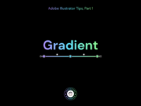 Instatips — Gradient print branding illustration graphicdesign basics gradient learning learn instagram tips