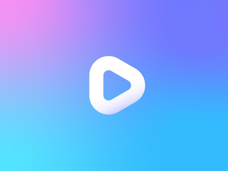 Video editor play logo design icon icon design branding mark logo