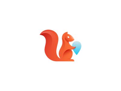 Squirrel mark logo mark squirrel geotag tag geolocation animal wip