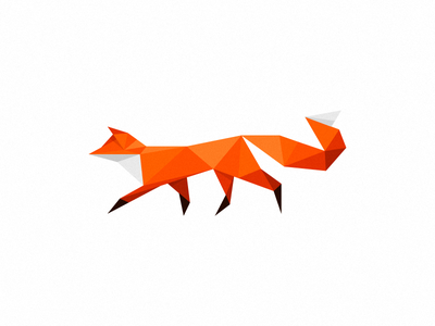 Fox mark (not for sale) white illustration polygonal design polygonal poly logo mark fox orange triangles geometric red