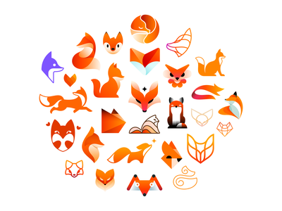 Foxbruary project (28 foxes) fox branding logo design logo