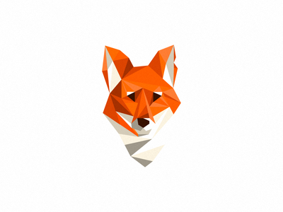 Fox (not for sale) polygonal design polygonal poly fox illustration mark logo geometrical triangles orange red white