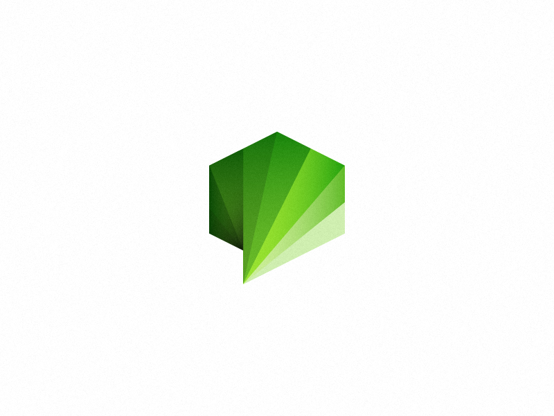 Cube+bubble logo logo mark wip cube bubble dialogue communication green sale