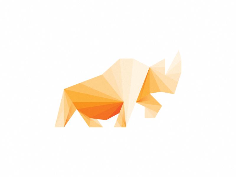 Rhino mark (not for sale) logo mark rhino wip yellow parts