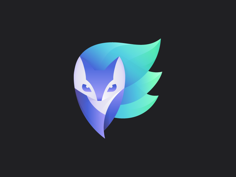 Enlight logo enlight app fox editor logo mark kitsune animal