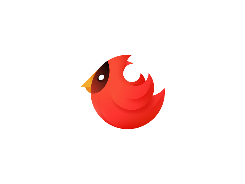 Cardinal mark (2) flight wings red bird c cardinal mark logo sale