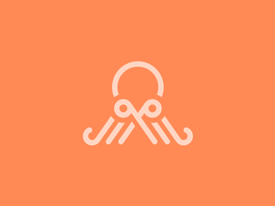Octopus+Scissors logo concept