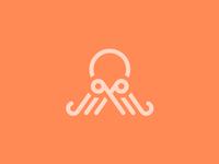 Octopus+Scissors logo concept
