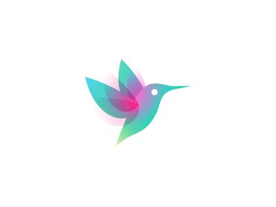 Colibri mark wip colors hummingbird humming-bird colibri bird mark logo