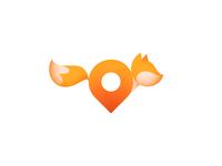 Running fox (+ pin)