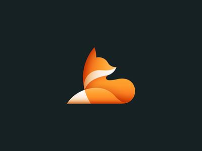 Fox branding icon design icon logo design sale red animal fox gradients mark logo