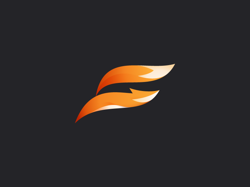 FitFox logo mark mark logo letter run jump sport fitness fit fox f