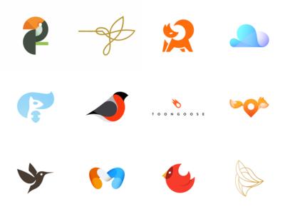 Logolounge 10 selection selection icon bird fox mark logo logolounge
