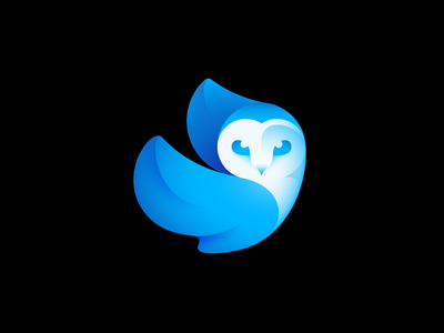 Enlight Quickshot App logo app gradient blue quickshot enligh owl mark logo