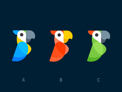 Placed (colors) negative space logo design icon design logo icon parrot geotag pin geo tropic