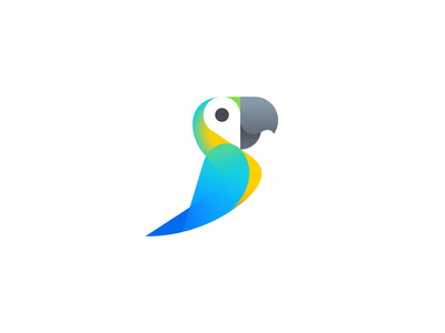 Parrot negative space logo design icon design logo icon parrot geotag pin geo tropic