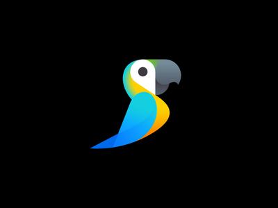 Parrot + Pin tropic geo pin geotag parrot icon logo icon design logo design negative space