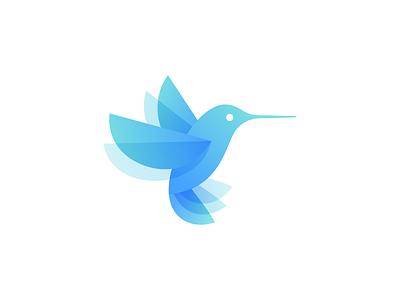 Bird Mark blue colibri design hummingbird bird icon design icon logo design logo