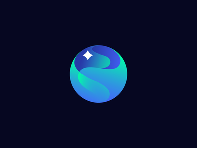 Aurora (northern lights) northern light aurora icon logo icon design logo design