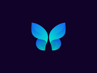Butterfly Mark blue design butterfly icon design icon logo design logo