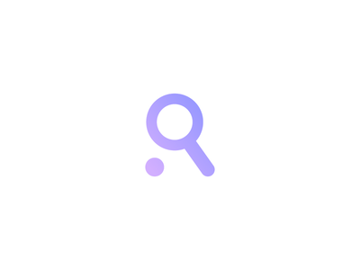 R - Research logo design letter r icon logo magnifier