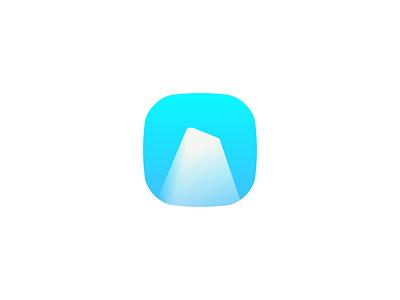 """I"" for Iceberg arctic blue i letter logo icon iceberg"