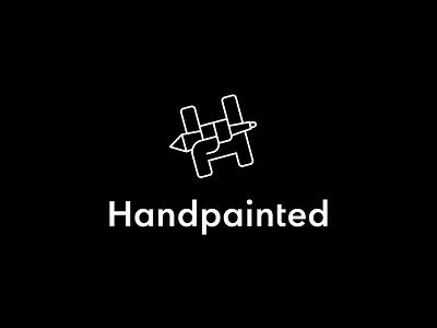 Handpainted logo branding design painting wacom hand letter logo design mark logo