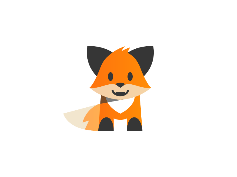 Fox fox character illustration