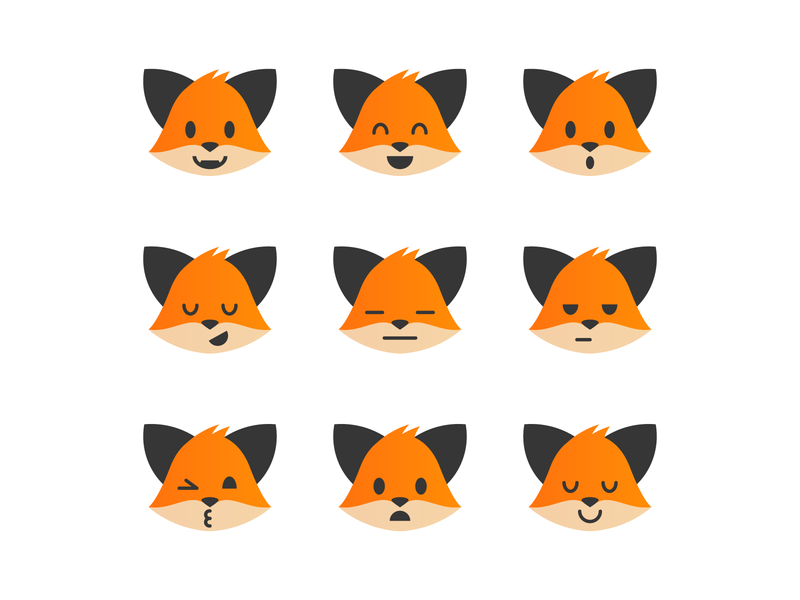 Fox (emotions) character fox illustration