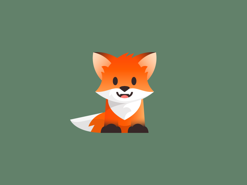 Fox (details) charachter fox illustration