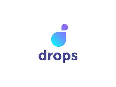 Drops (revised 2nd) drops drop letter wip icon design icon logo design mark logo