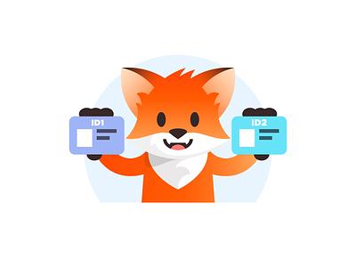Standing Fox fox branding vector design illustration