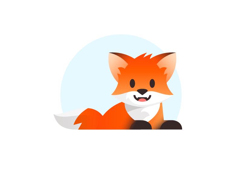 Fox pose branding vector design fox illustration