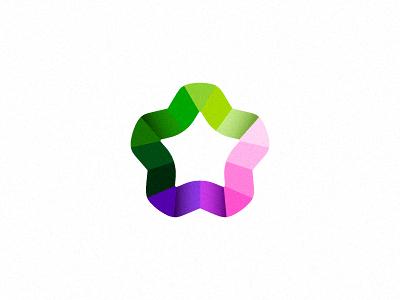 Yafoy mark violet pink green consulting ribbons star colors mark logo