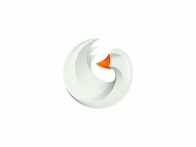 Goose (UPD) (not for sale) g letter gradient wing letter g goose bird mark logo