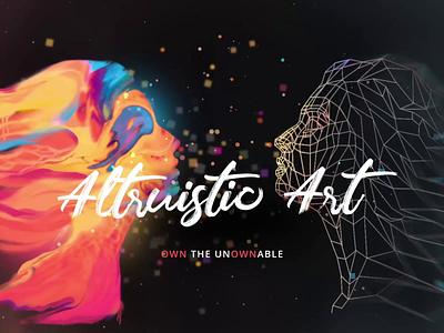 Altruistic Art 3d 2d illustration mesh particle line art face animation