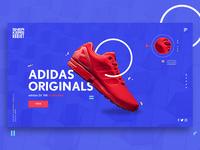 Adidas Landing Page Mockup