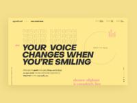 Typographic Website Page