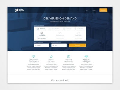 Street Stream Desktop Homepage ux ui landing courrier web